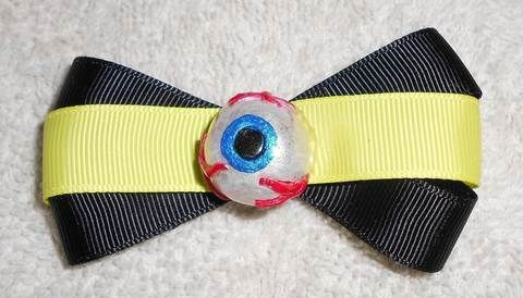 I've got my eye on you!!! :) .  Make a hair clip / barrette in under 90 minutes by hairstyling, molding, and decorating with scissors, ribbon, and acrylic paint. Inspired by halloween, gothic, and costumes & cosplay. Creation posted by Queen of the Sidhe.  in the Jewelry section Difficulty: Easy. Cost: Cheap.