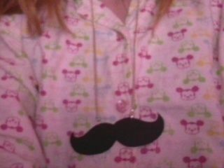 Mustache necklace with two sides. .  Free tutorial with pictures on how to make a mustache pendant in under 15 minutes using scissors, glue, and needle. How To posted by xYaelle. Difficulty: Easy. Cost: Absolutley free. Steps: 4