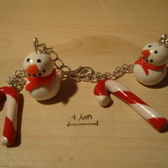 X'mas Bracelet (Polymer Clay)