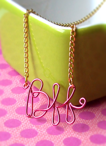 Bff Necklace 183 How To Make A Wire Word Necklace 183 Beadwork