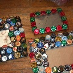 Bottle Cap Picture Frame
