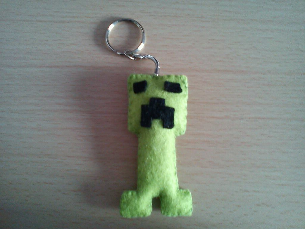 Minecraft Creeper Keyring · A Fabric Character Charm ...