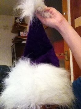 Unique and special .  Free tutorial with pictures on how to make a novelty hat in under 60 minutes by sewing and sewing with faux fur, faux fur, and sewing materials. Inspired by crafts, christmas, and vintage & retro. How To posted by Dragoness. Difficulty: Easy. Cost: 3/5. Steps: 4