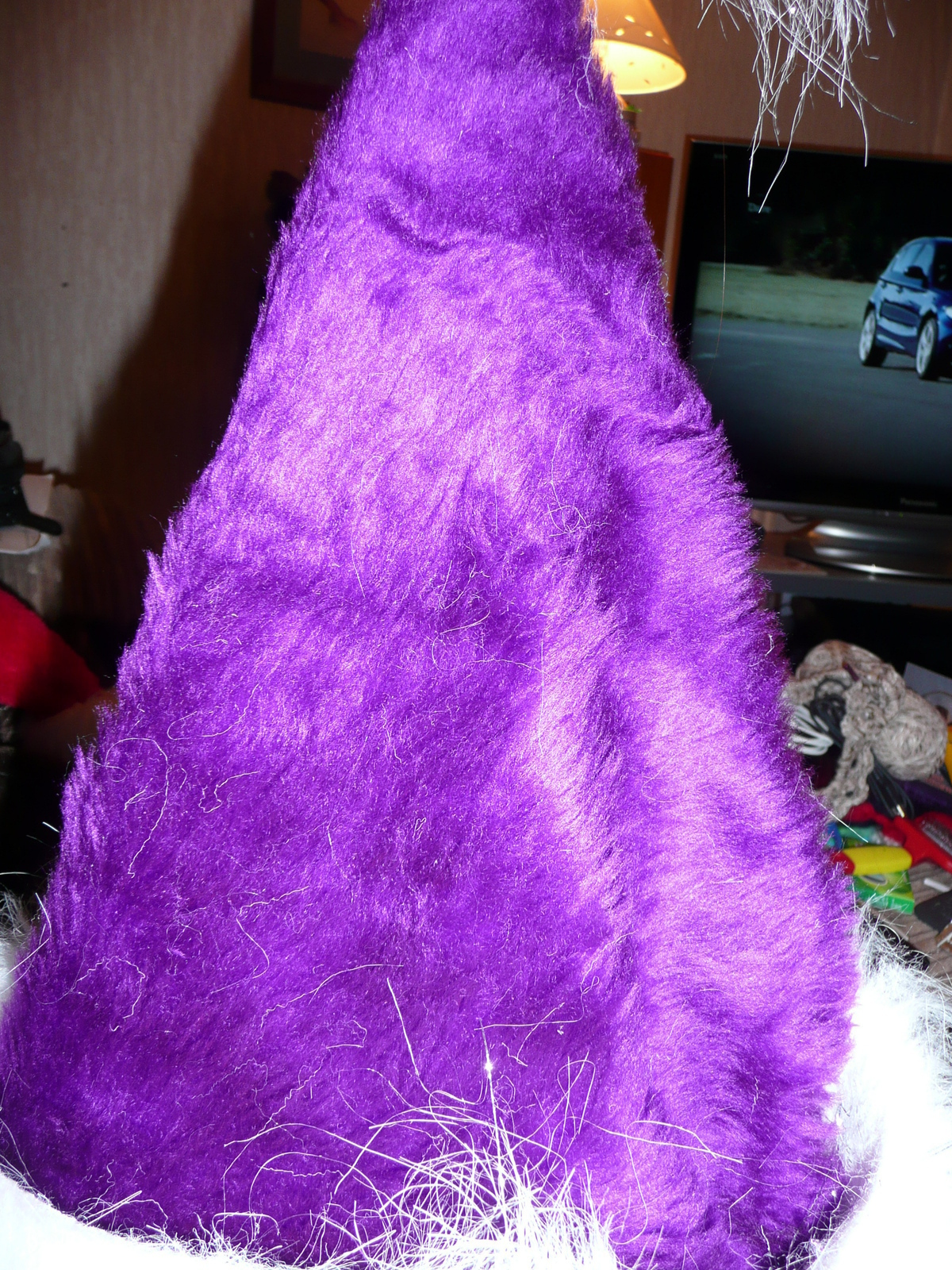 a732e032e7ed1 Purple Santa Hat · How To Make A Novelty Hat · Sewing and Sewing on ...