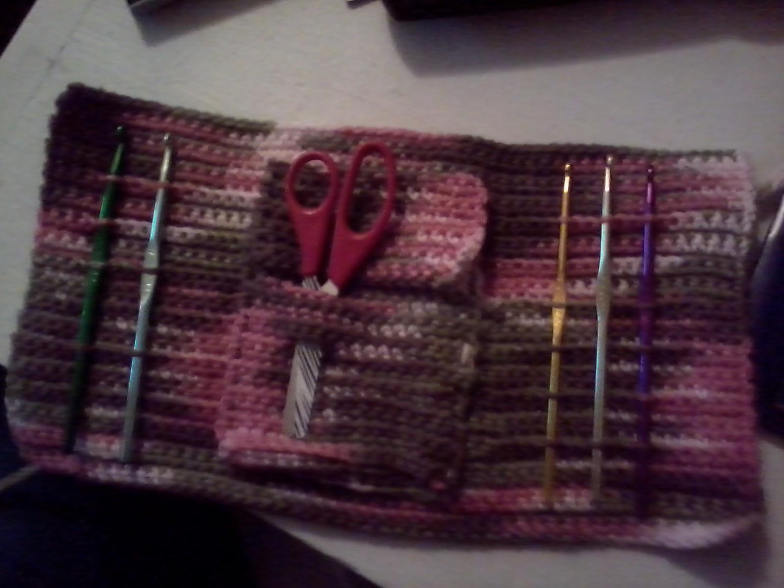 Crochet Hook Case A Roll Up Pouch Crochet On Cut Out Keep