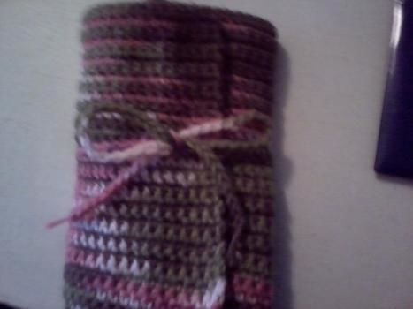 Crochet, Hook Case .  Sew a roll-up pouch in under 180 minutes by crocheting with yarn. Creation posted by Morgan. <3. Difficulty: Simple. Cost: Absolutley free.