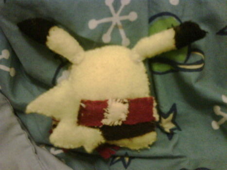 It's literally a Harry Potter Pikachu. LOLOL. Harry Potter + Pikachu = POTTERCHU? .  Make a Pokemon plushie by decorating, embroidering, and sewing with felt, felt, and felt. Inspired by pokemon and pikachu. Creation posted by LaVonne D. Difficulty: 3/5. Cost: Cheap.