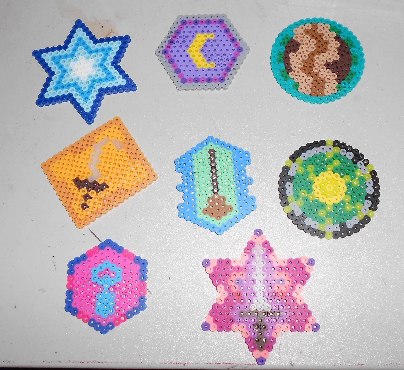 Pacman Coasters Made Of Hama Beads · A Beaded Coaster · Beadwork ...