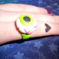 Eyeball, Zombie Heart, & Tim Burton Rings With Fimo