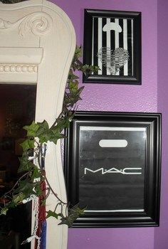 Cool recycle project and great way to decorate your room! .  Free tutorial with pictures on how to create art / a model in 1 step using scissors, tape, and construction paper. Inspired by mac cosmetics. How To posted by Alternativelychiic. Difficulty: Easy. Cost: Absolutley free.