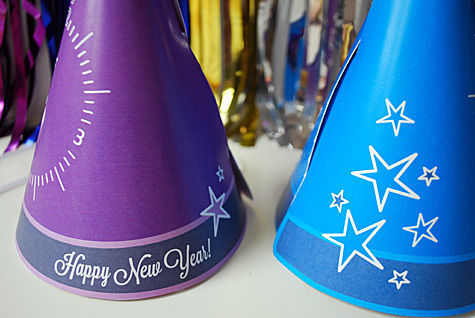 Countdown to the 2012 with these free printable party hats .  Free tutorial with pictures on how to make a party hat in under 15 minutes by papercrafting with ribbon, cardstock, and velcro. Inspired by new year's eve. How To posted by Kathy B. Difficulty: Easy. Cost: No cost. Steps: 5