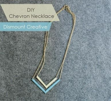 DIY Chevron Necklace .  Free tutorial with pictures on how to make a metal necklace in under 20 minutes by decorating, jewelrymaking, and metalworking with jump rings, chain, and nail polish. How To posted by Alicia. Difficulty: Simple. Cost: No cost. Steps: 3