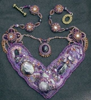 This TYPE OF project requires more than just a passing knowledge of beading but is well worth the effort .  Make a collar / bib by embellishing, creating, drawing, beading, and sewing with felt, beads, and gems. Inspired by costumes & cosplay. Creation posted by Regina R. Difficulty: 5/5. Cost: 3/5.