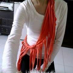 Orange Fringe Scarf!!!
