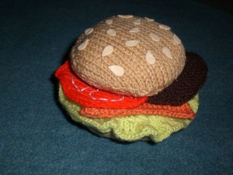 .the perfect centrepiece for any table! .  Free tutorial with pictures on how to stitch a knit or crochet coaster in under 180 minutes by sewing and knitting with felt, felt, and yarn. Inspired by burgers. How To posted by Kandy D. Difficulty: 3/5. Cost: 3/5. Steps: 5
