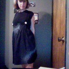 Spray Paint + Doilies Dress
