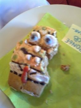 MMMmm he's yummy and funny!!! .  Decorate a character cookie in under 120 minutes by cooking, baking, decorating food, and decorating with icing, food, and gingerbread. Inspired by spongebob squarepants. Creation posted by miss tea pot. Difficulty: 3/5. Cost: Cheap.