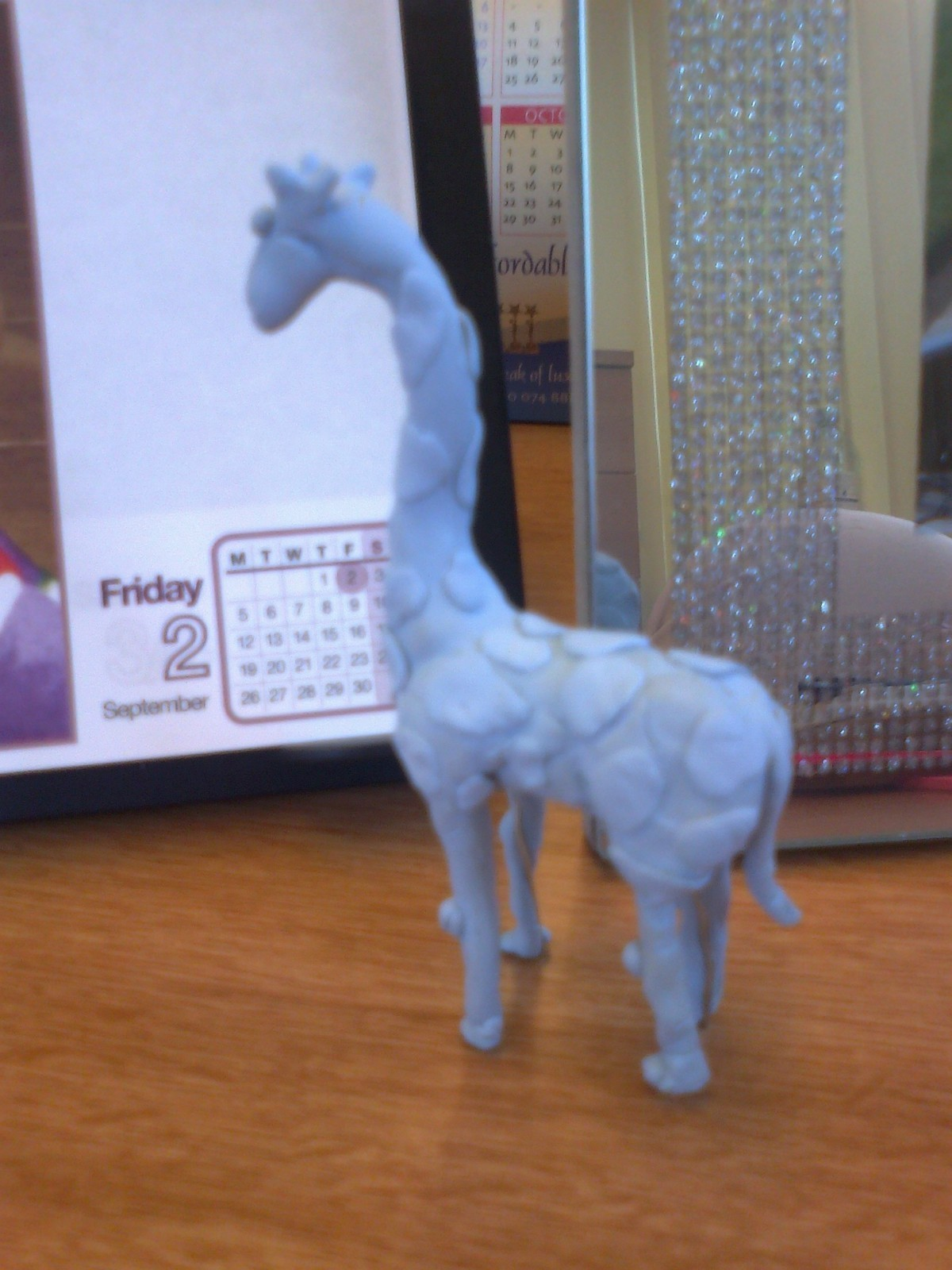 blue tack giraffe 183 a recycled model 183 molding on cut out
