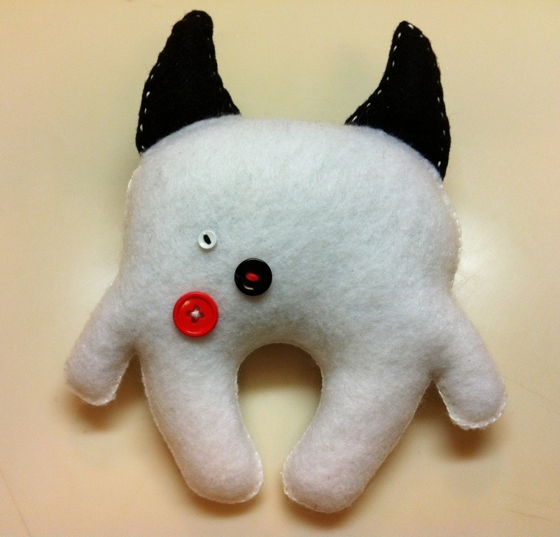 Scary Monster Plushie · A Food Plushie · Sewing On Cut Out
