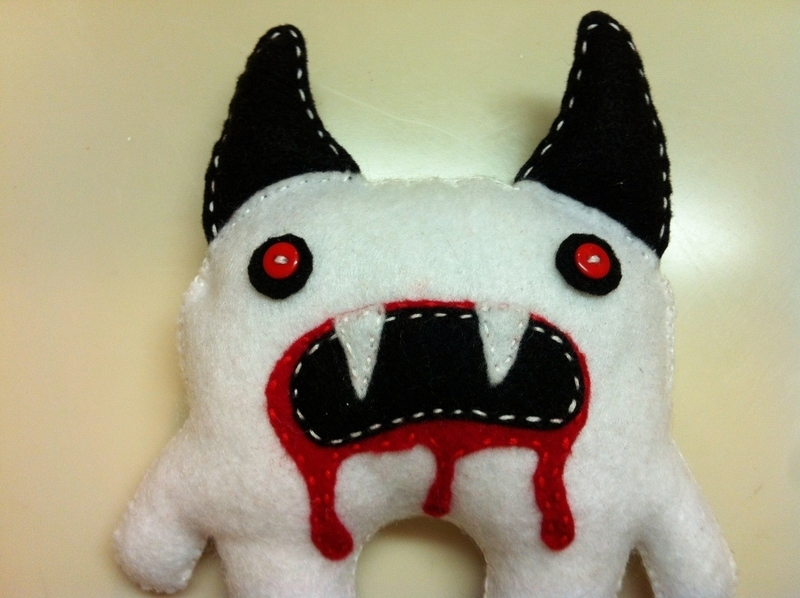 Scary Monster Plushie 183 A Food Plushie 183 Sewing On Cut Out