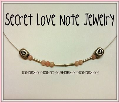 Use Morse Code To Make Fun Jewelry .  Free tutorial with pictures on how to make a necklace in under 10 minutes by jewelrymaking with beading wire, chain nose pliers, and round beads. Inspired by valentine's day, hearts, and clothes & accessories. How To posted by Pam. Difficulty: Easy. Cost: Absolutley free. Steps: 2