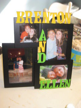 How to make frames a little more precious! .  Decorate an embellished photo frame in under 45 minutes by decorating with paint, frame, and wooden letter. Creation posted by Ellen Stewart. Difficulty: Easy. Cost: Cheap.