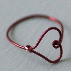 Wire Heart Finger Ring Diy