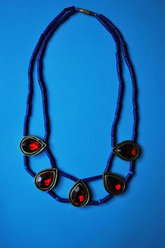 Heres a diy necklace idea which you could expeiment with!! .  Make a woven bead necklace in under 120 minutes by creating and beading with seed beads, perler beads, and bead. Inspired by crafts, indian, and vintage & retro. Creation posted by Aakriti C. Difficulty: Simple. Cost: Cheap.