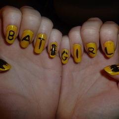 Batgirl Nails