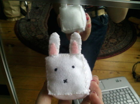 .  Make rabbit plushie in under 20 minutes by needleworking Inspired by rabbits, kawaii, and cubes. Version posted by Horkidelo. Difficulty: 3/5. Cost: Absolutley free.