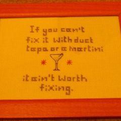 If You Can't Fix It... X Stitch