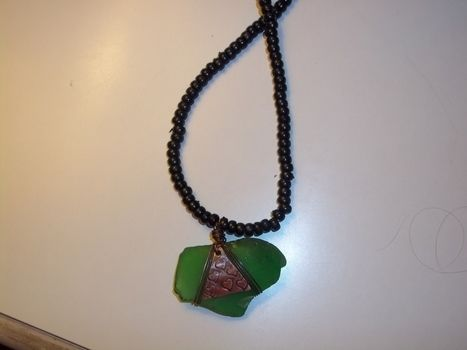 Keeping it glassy! .  Make a glass pendant in under 30 minutes by jewelrymaking with sea glass. Inspired by sealife, hearts, and clothes & accessories. Creation posted by Ashley P. Difficulty: Easy. Cost: Absolutley free.