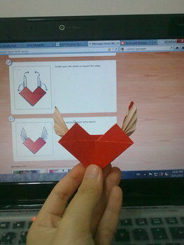 .  Fold an origami shape in under 20 minutes by paper folding Inspired by hearts. Version posted by Lef T. Difficulty: Simple. Cost: Cheap.