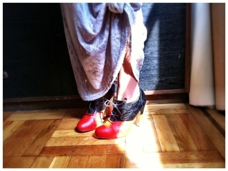 Diy Viktor & Rolf Red And Black Booties · How To Paint A ...