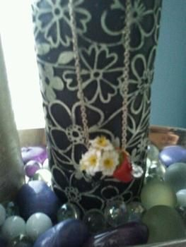 It's redddd .  Make a thimble pendant in under 20 minutes by beading with felt, thread, and needle. Inspired by kawaii. Creation posted by ~-*animelover~-*. Difficulty: Easy. Cost: Cheap.