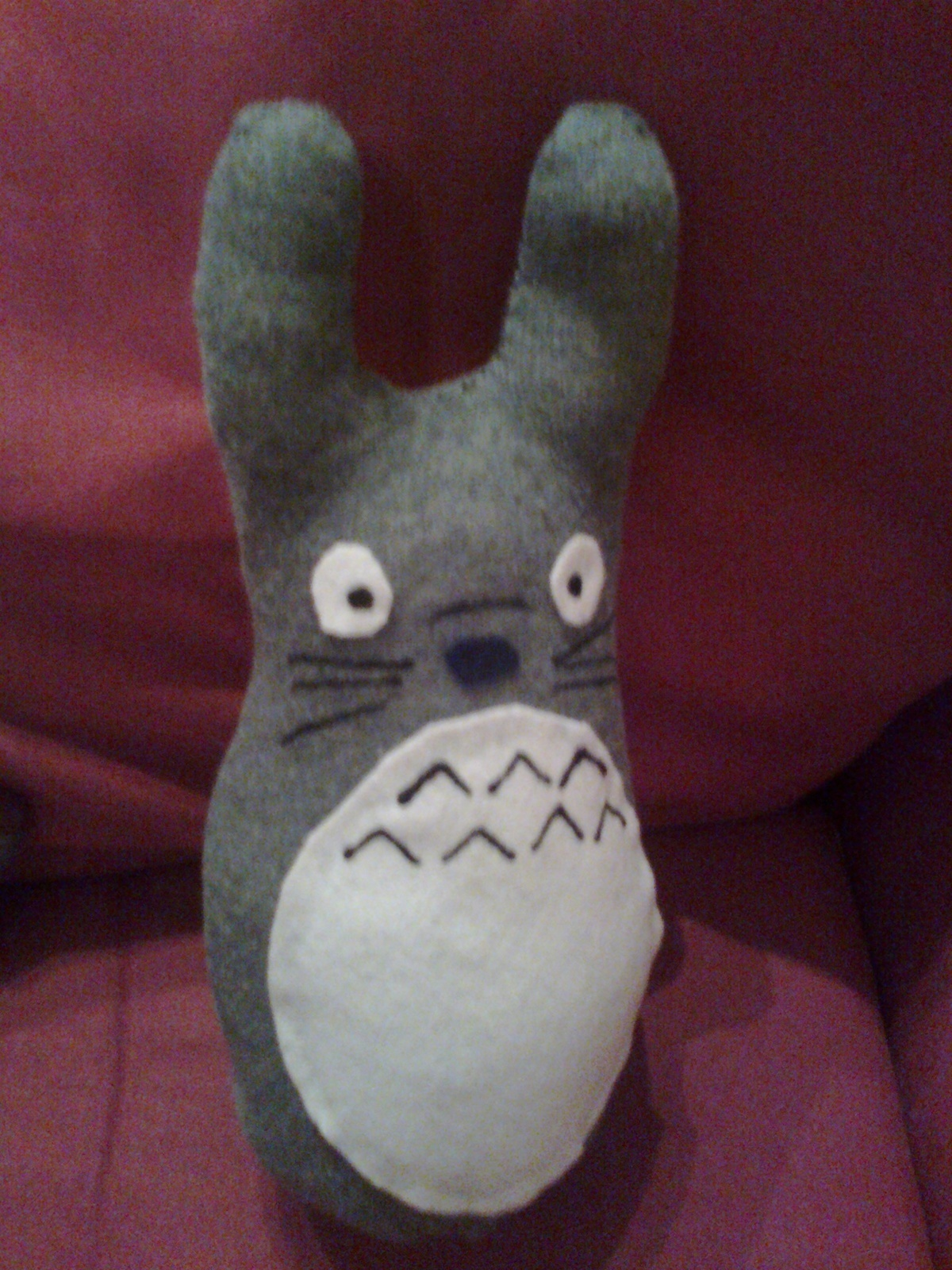 Sock Totoro 183 A Bear Plushie 183 Needlework Sewing And