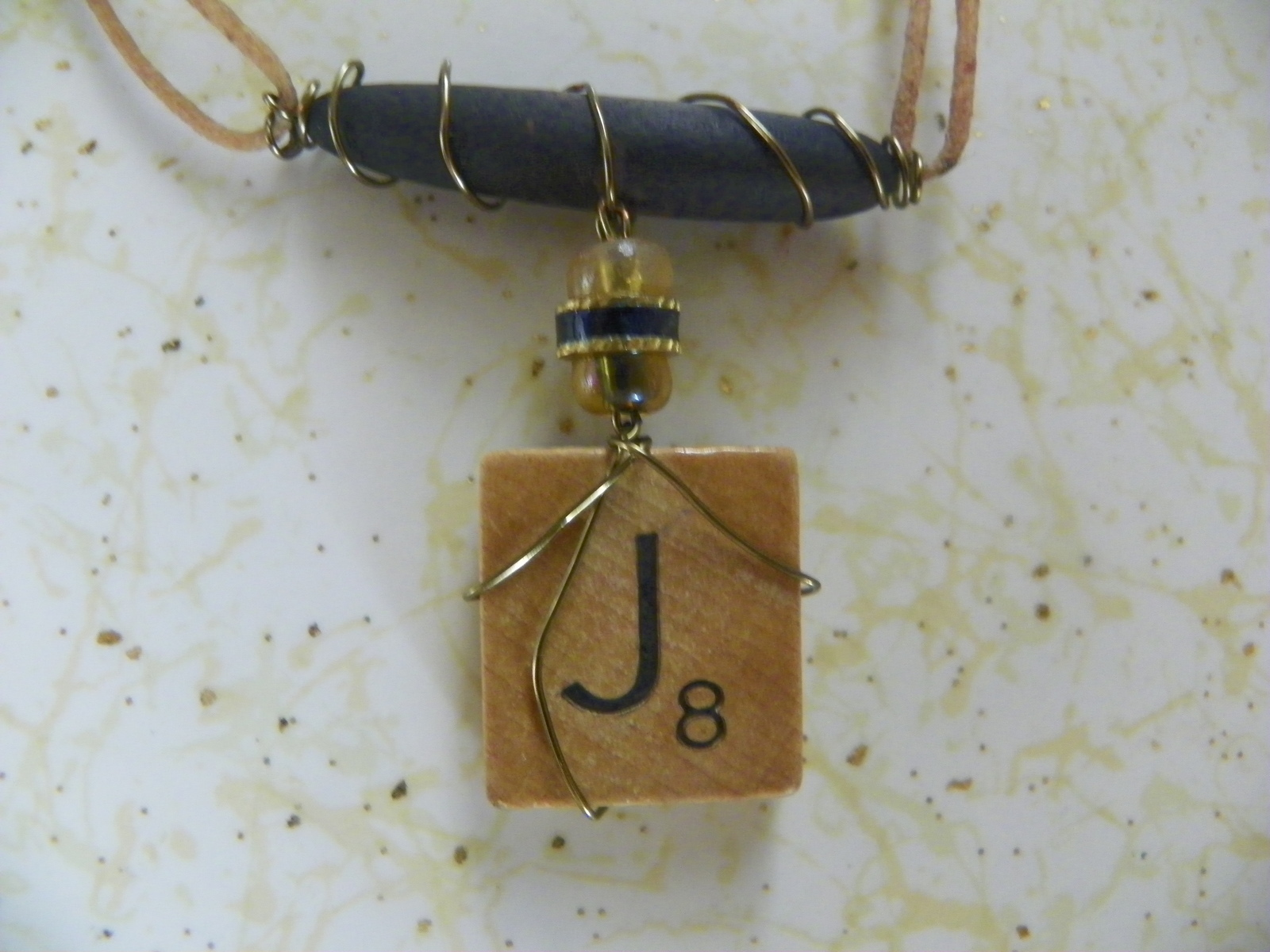 Wire wrapped scrabble tile necklace a scrabble necklace jewelry with a few beads added for accent make a scrabble necklace in under 45 minutes aloadofball Image collections