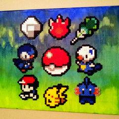 Pokemon Perler Art