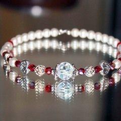 Valentines Inspired Pearl Bracelet