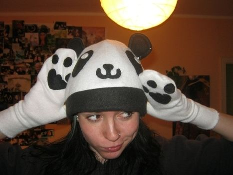 Oh my GOSH! .  Make an animal hat in under 30 minutes by decorating, embellishing, and needleworking with fleece. Inspired by creatures, costumes & cosplay, and kawaii. Creation posted by FrolleinKram. Difficulty: Easy. Cost: Absolutley free.