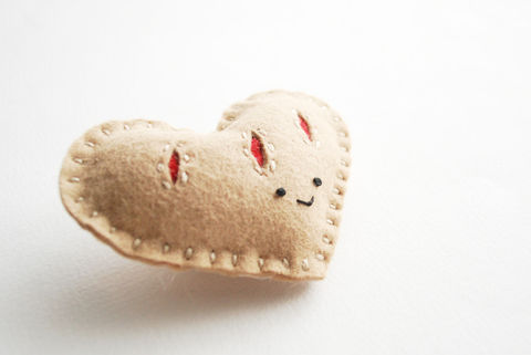 Make a cute little pastry to play with! .  Free tutorial with pictures on how to make a shape plushie in under 30 minutes by sewing with scissors, scissors, and needle. Inspired by hearts. How To posted by Mollie J. Difficulty: Easy. Cost: Cheap. Steps: 5