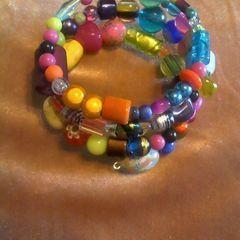 Stray Beads Wrist Cuff
