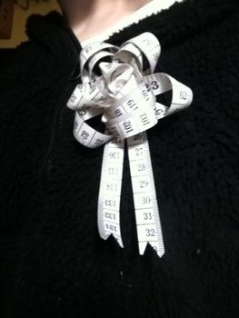 .  Make a tape measure brooch in under 20 minutes by sewing Inspired by clothes & accessories. Version posted by spookycutie. Difficulty: 3/5. Cost: Absolutley free.