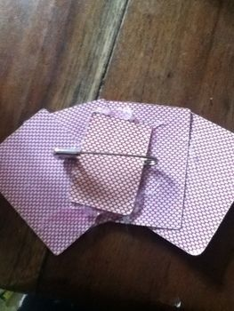 Your cards can't get  any closer to your chest when you've pinned them there. .  Make a toy brooch in under 10 minutes using hot glue gun, safety pins, and playing card. Inspired by clothes & accessories. Creation posted by spookycutie. Difficulty: Easy. Cost: No cost.