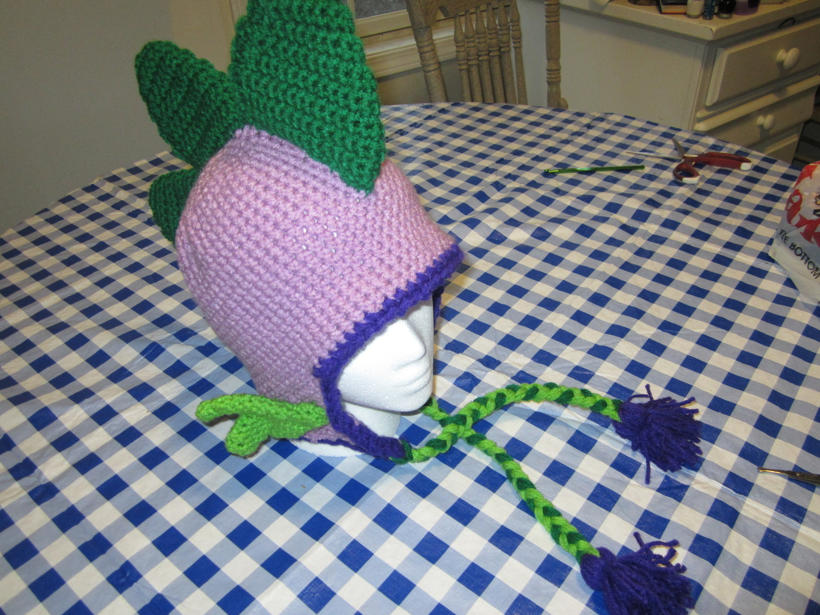 Mlp Spike The Dragon Crochet Hat A Character Hat Sewing And