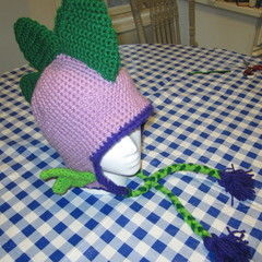 Mlp Spike The Dragon Crochet Hat