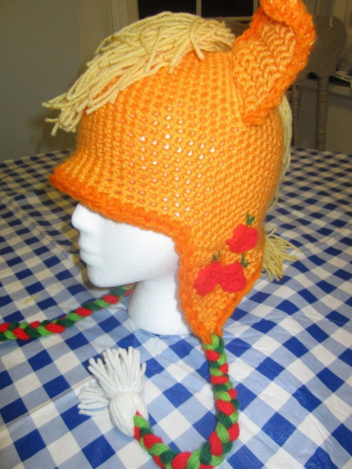 Mlp Apple Jack Crochet Hat 183 A Character Hat 183 Sewing And