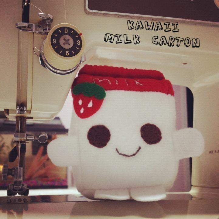 kawaii strawberry milk carton plushie  u00b7 a drink plushie