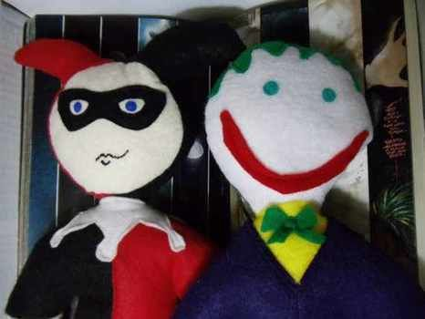 Proof that the perfect couple can be evil .  Make a food plushie in under 105 minutes by sewing with felt and polyfill. Inspired by domo kun, domo kun, and gothic. Creation posted by feliceshappydesigns. Difficulty: 4/5. Cost: Cheap.