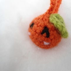 Orange Amigurumi Phone Charm